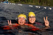 Deltagarrekord under simmarhelgens första dag