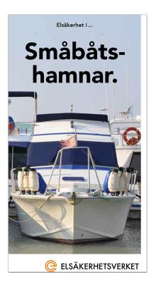 Ny broschyr om elsäkerhet i småbåtshamnar