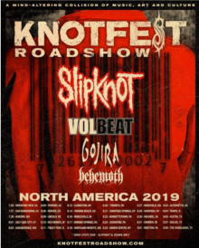 VOLBEAT spiller support for SLIPKNOT på den amerikanske KNOTFEST ROADSHOW tour.