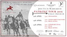 WELCOME TO MARRAKECH POLO CLUB JNAN AMAR - PATRONS' TOUR, 12-14 APRIL