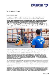 Panalpina und JDA verhelfen Kunden zu höherer Umschlagsfrequenz