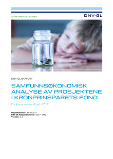 DNV GL Rapport: Samfunnsøkonomisk analyse av prosjektene i Kronprinsparets Fond v 1.1