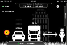 Ny app från Tyréns räknar vägtrafikbuller