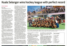 Kuala Selangor wins hockey league with perfect record