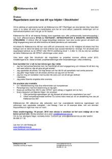 Rekrytering Reparbetare, ansökan tom 2015 01 19