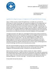 Läkare i Världens remissvar till Justitiedepartementet ang. den nya asyllagen 2016