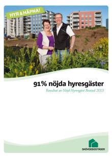 Skövdebostäder Nöjd Kund, 91% nöjda hyresgäster