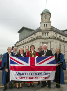 Flag raising ceremony takes place to mark Armed Forces Day