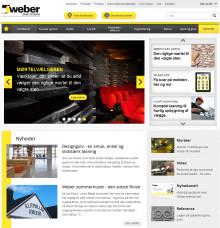 """Med et enkelt klik… Saint-Gobain Webers nye hjemmeside er """"on the air"""""""
