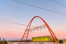 Empower urakoi Länsisalmen sähköaseman maamerkkinä toimivan maisemaportaalin