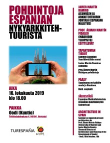 Seminar on Present Spanish Architecture at Helsinki Central Library Oodi. 16th October. 18:00