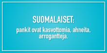 Kansallinen Mikä pankeissa pännii -tutkimus selvitti: Suomalaispankkien kolme kuolemansyntiä ovat kasvottomuus, ahneus  ja arroganssi