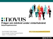 Novusrapport för Belysningsbranschen