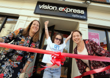 Young eye cancer survivor unveils new-look Vision Express store to Ashbourne community