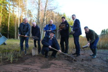 Badplatsen i Helgbo rustas upp med stöd av Leksands Sparbank