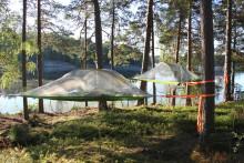 Nyhet: Sov i trädtält på nästa konferens