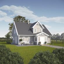 Framtidens energieffektiva familjevilla blir verklighet med Villa Solgläntan