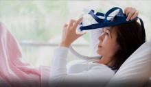 Andningsmask med liten centrifugalfläkt minskar risken för sömnapné