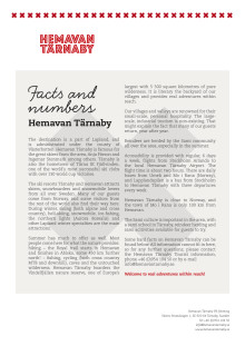 Facts and numbers about Hemavan Tärnaby