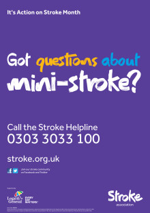 Our new booklet on mini-stroke is available to download