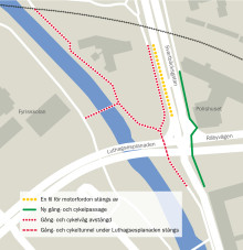 Gång- och cykeltunnel på Svartbäcksgatan stängs av under två år
