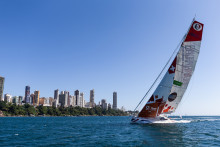 Pip Hare completes Transat Jacques Vabre with a nail-biting finish
