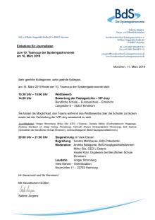 Einladung für Journalisten zum 10. Teamcup der Systemgastronomie