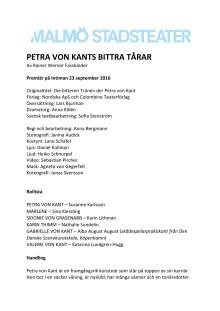 Petra von Kants bittra tårar