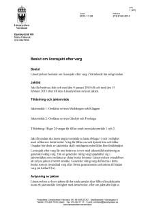 Beslut - Licensjakt på varg 2014-11-28