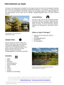 Thüringer Wassertourismus: Informationen zur Saale