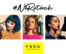 Svenska makeupmärket FÄRG väljer äkthet före retusch