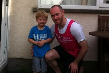 Father and son team raise over £1,000 for children's charity