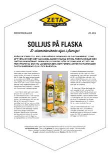 Zeta D-vitaminberikade oljor pressmeddelande