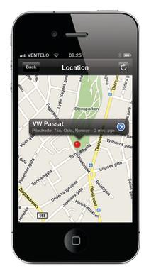 GPS Link med Finder: Mobilen viser hvor den stjålne bilen er.