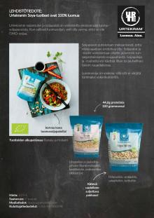 Urtekram Soya-tuotteet ovat 100% luomua