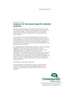 Initiativ Insatser för det akuta läget för skånskt  lantbruk