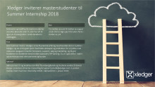 Vi inviterer masterstudenter til Summer Internship 2018