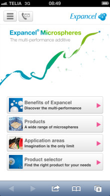 Expancel microspheres go mobile