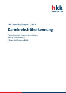 """hkk-Gesundheitsreport """"Darmkrebsfrüherkennung"""""""