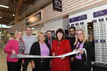Local MP Karen Lee joins Vision Express to officially open its new optical store at Tesco in Lincoln