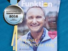 Funktion i fokus nominerad till Tidskriftspriset
