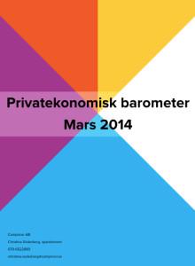 Privatekonomisk barometer mars 2014