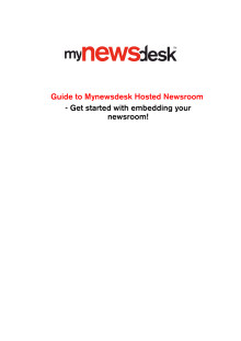 Hosted Newsroom Guide