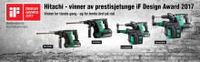 Hitachi vinner iF Design Award for tiende gang