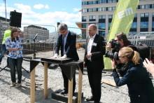 Borgarrådet Mogert (S) startade Einar Mattssons arbete i Hagastaden