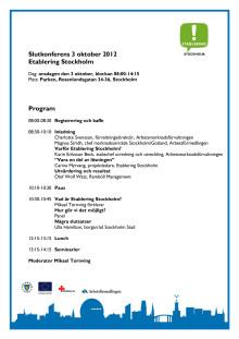 Program för slutkonferensen den 3 oktober