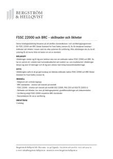 FSSC 22000 och BRC - skillnader och likheter