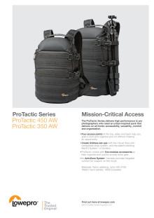 Lowepro Pro Tactic, datablad