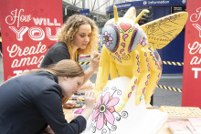 Youngster helps Virgin Trains mark the last weekend of Manchester's Bee in the City
