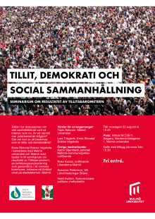 Flyer seminarium om resultatet av Tillitsbarometern